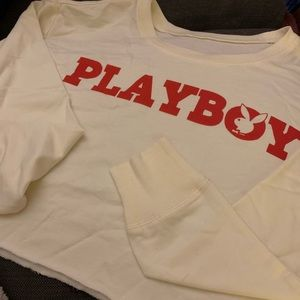 Vintage Cropped Playboy Sweatshirt